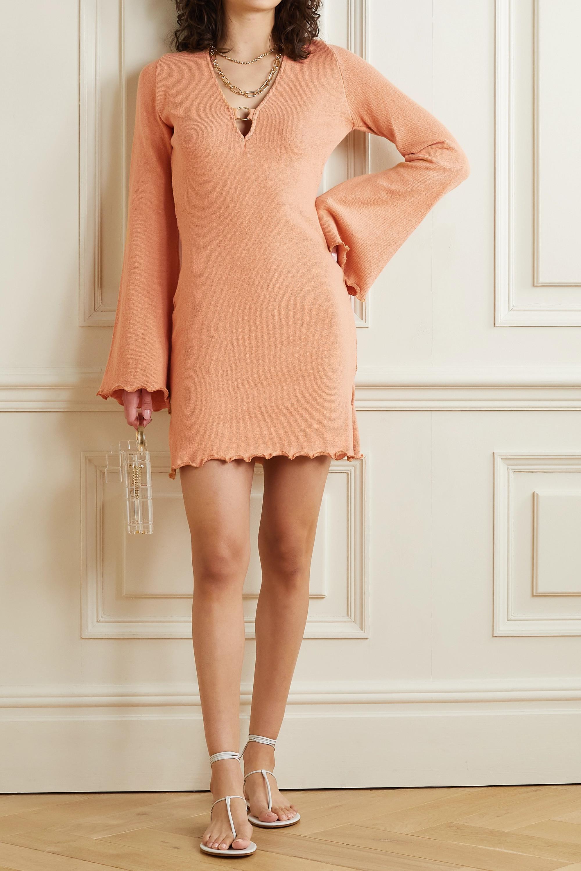 Savannah Morrow The Label + NET SUSTAIN Yara open-back silk and organic cotton-blend mini dress