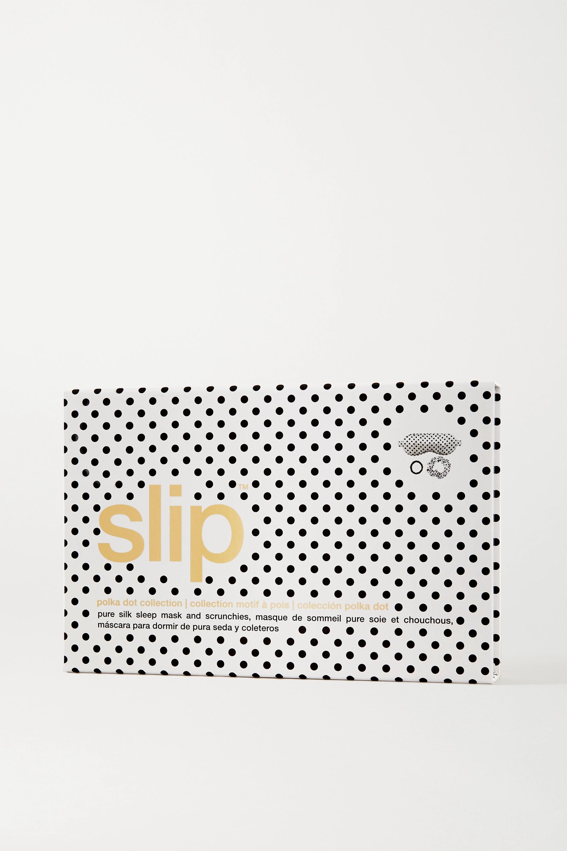 Slip Masque de sommeil et élastique en soie de mûre à pois