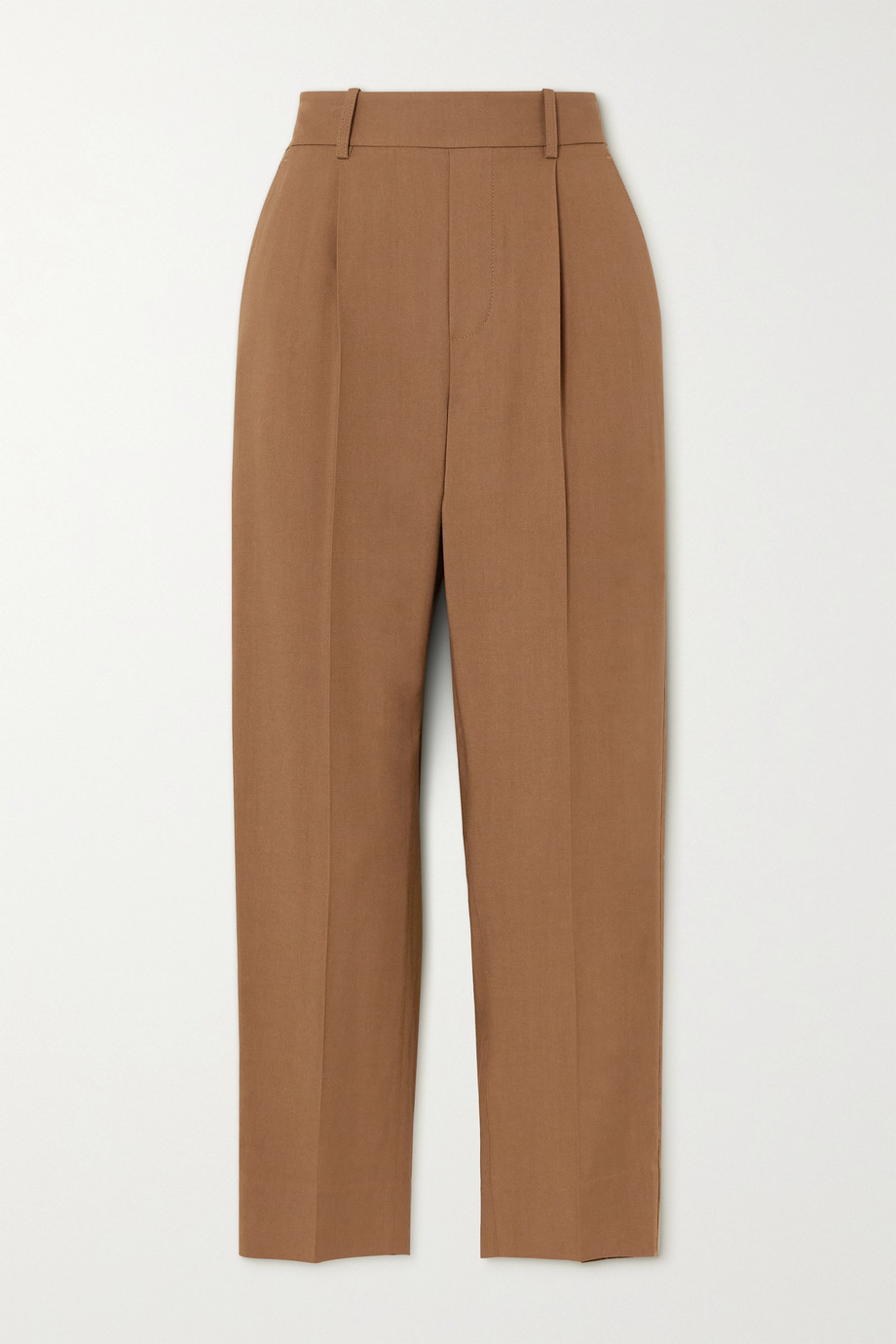 Vince Pleated twill tapered pants