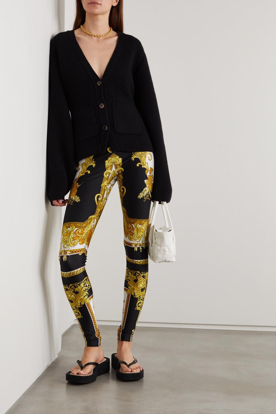 Versace Legging en jersey stretch imprimé