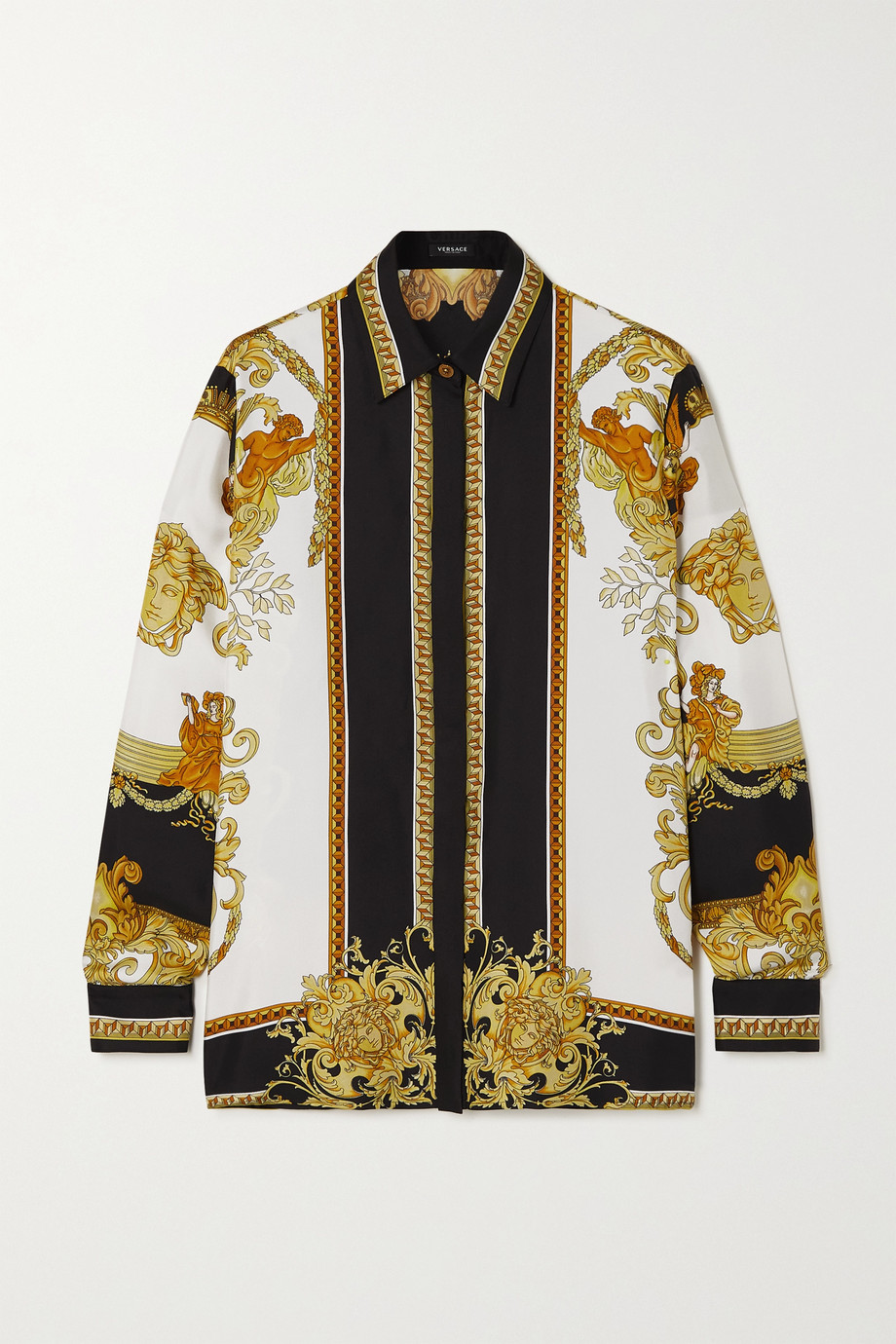 Versace Hemd aus bedrucktem Seiden-Twill
