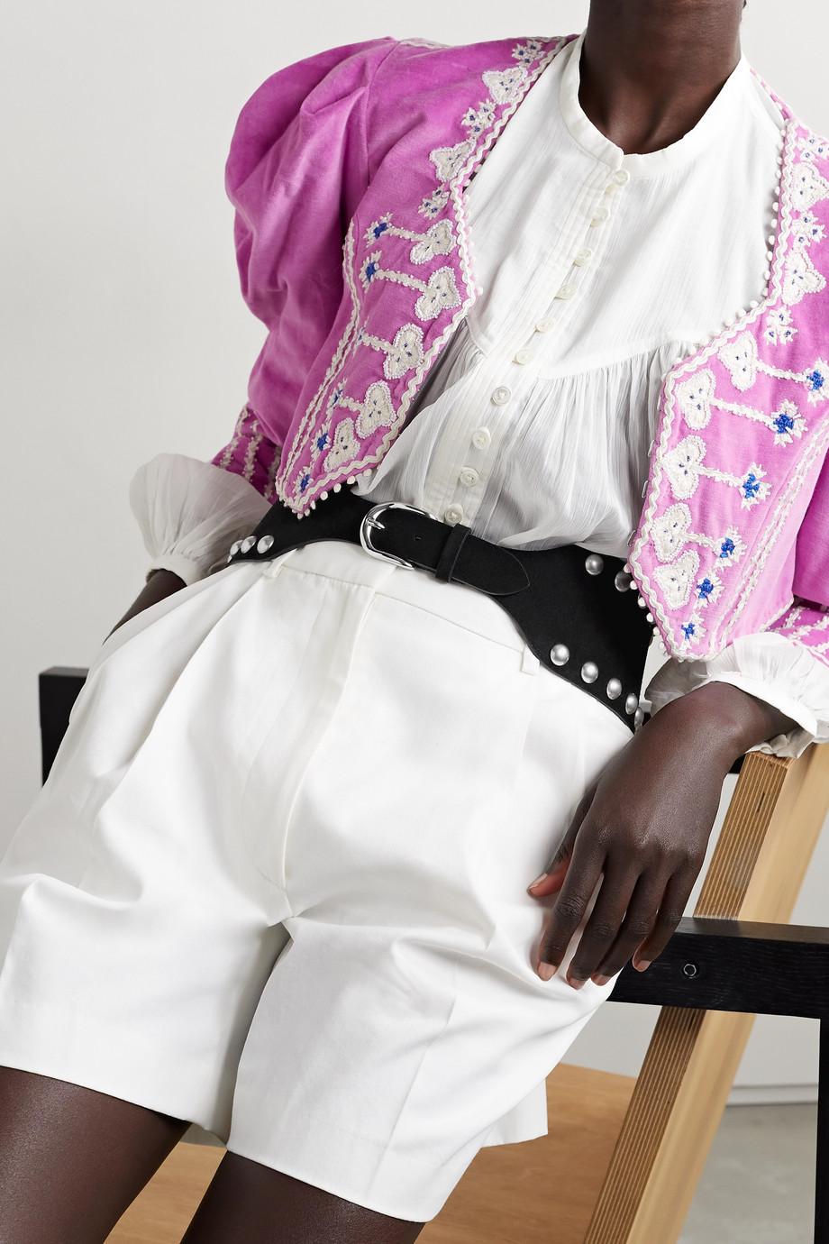 Isabel Marant Ceinture en daim à ornements Woma
