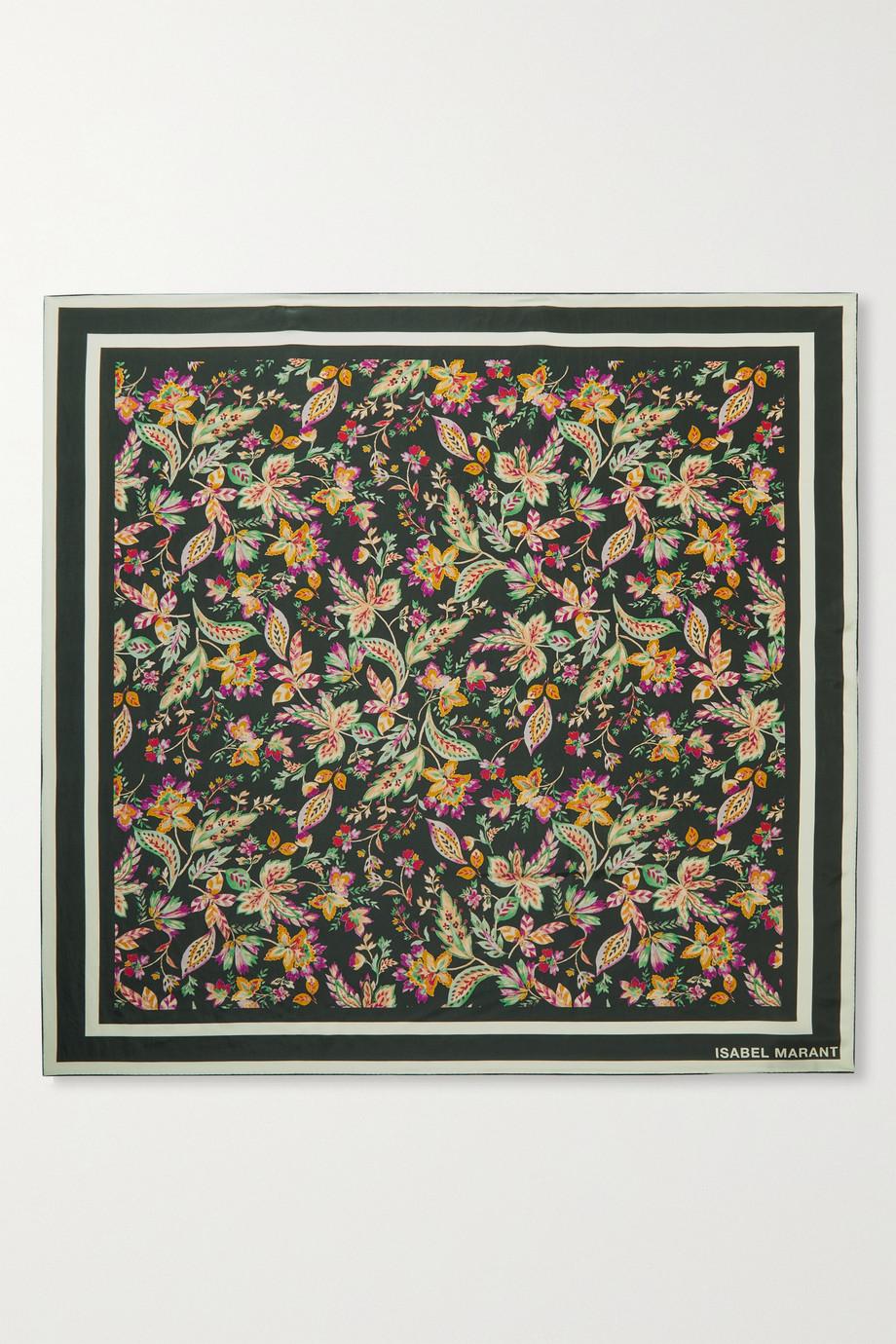 Isabel Marant Floral-print silk scarf