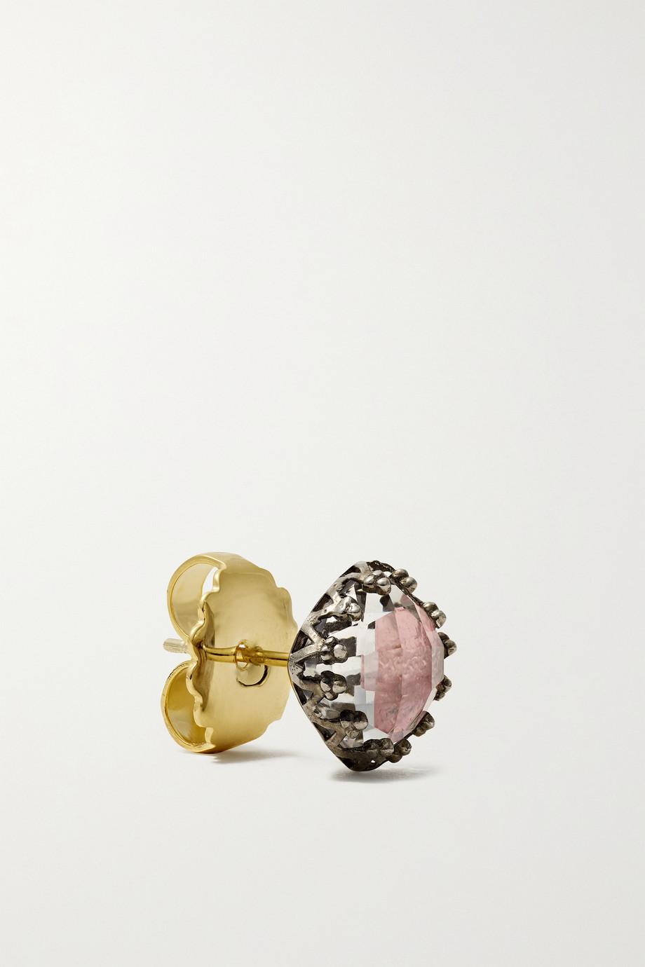 Larkspur & Hawk Jane rhodium-dipped quartz earrings