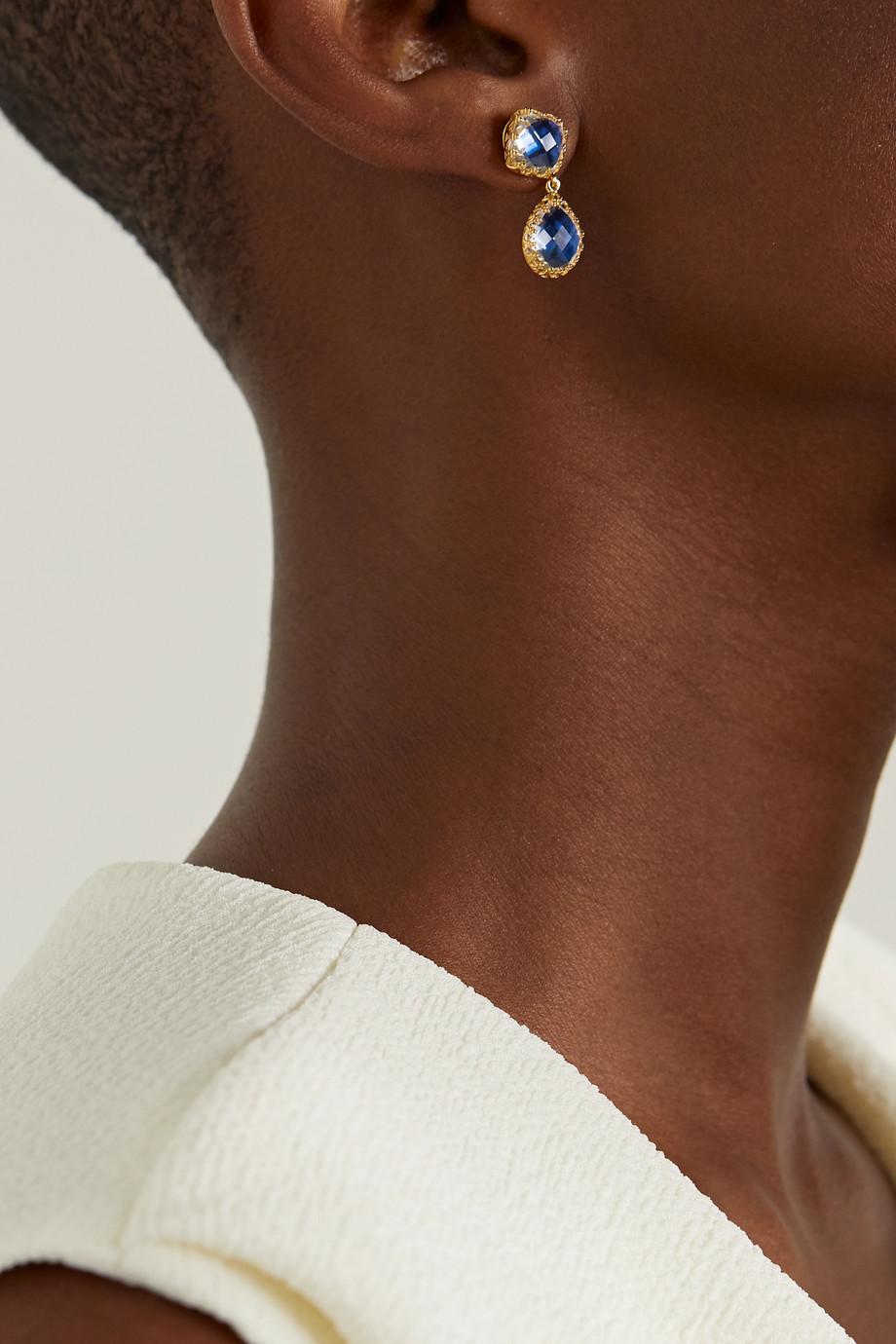 Larkspur & Hawk Jane 18-karat gold-dipped quartz earrings
