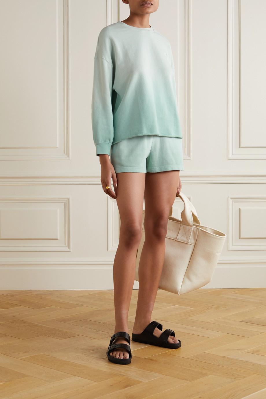 Rails Reeves Jane Set aus Sweatshirt und Shorts aus Jersey aus einer Baumwollmischung mit Farbverlauf
