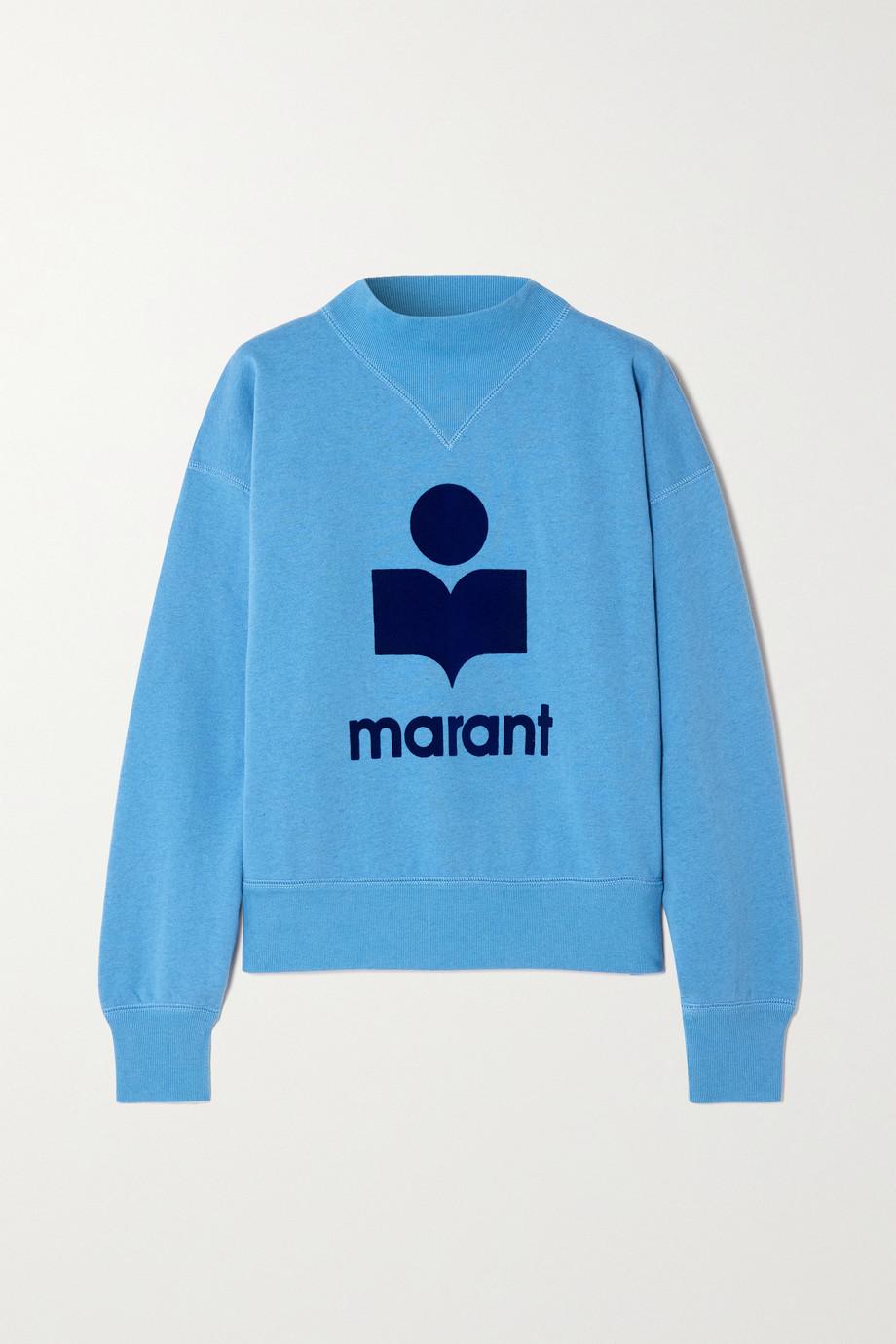 Isabel Marant Étoile Moby flocked cotton-blend jersey sweatshirt