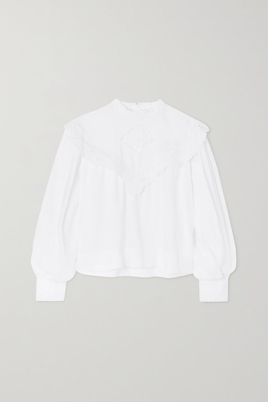Isabel Marant Étoile Elija broderie anglaise linen blouse