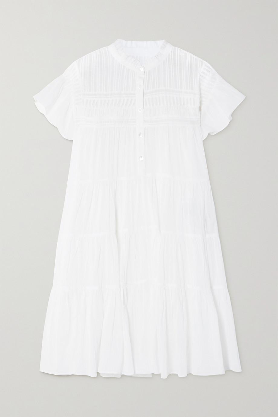 Isabel Marant Étoile Lanikaye ruffled tiered cotton-voile mini dress
