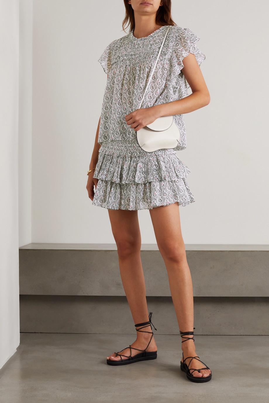 Isabel Marant Étoile Naomi tiered floral-print cotton-voile mini skirt