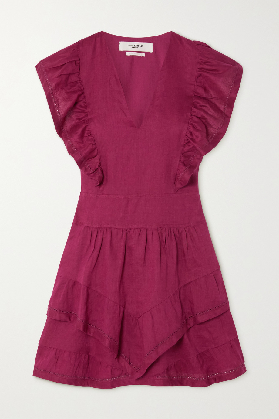 Isabel Marant Étoile Audreyo ruffled broderie anglaise cotton mini dress