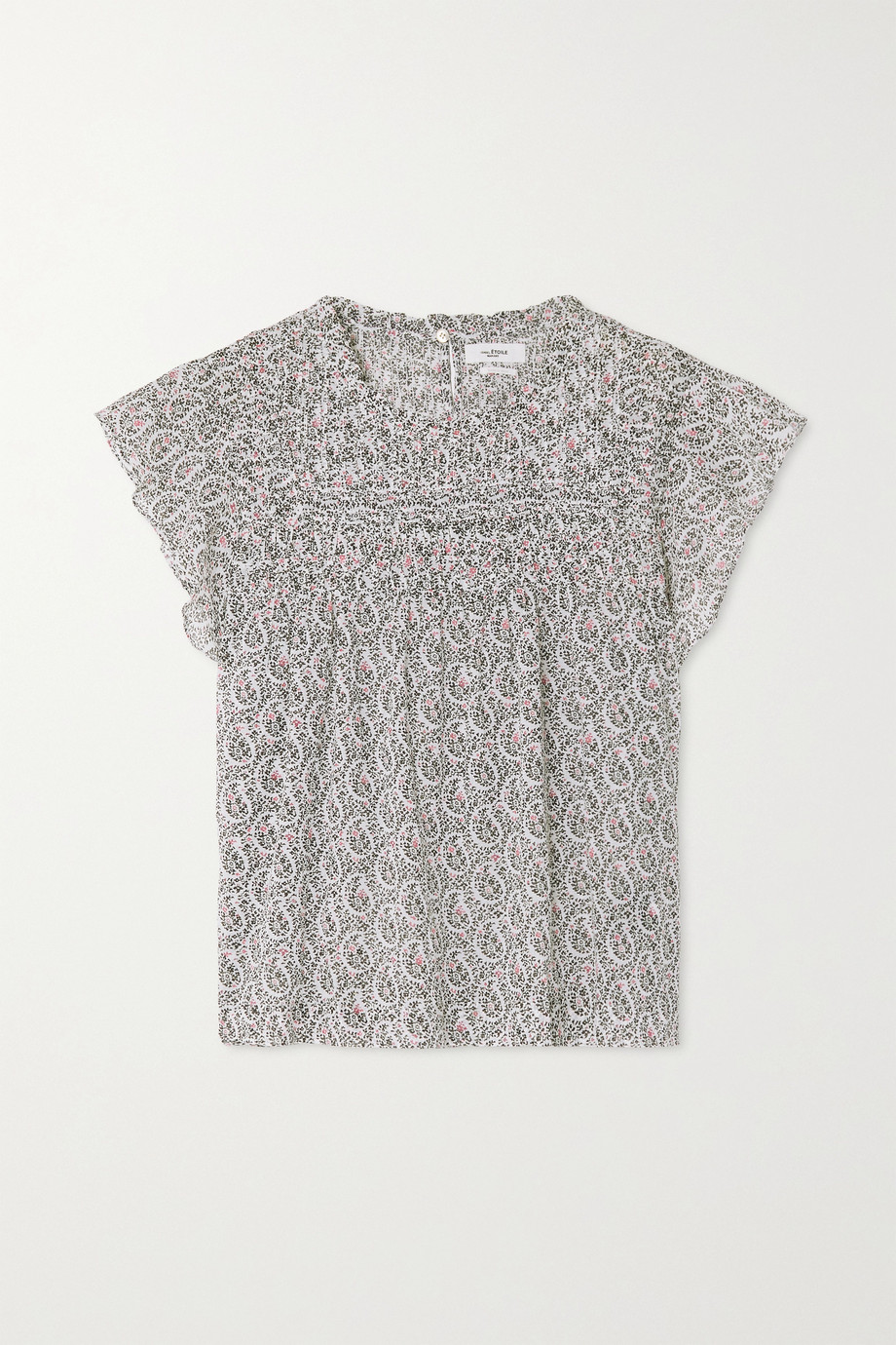 Isabel Marant Étoile Layona ruffled floral-print cotton-voile top
