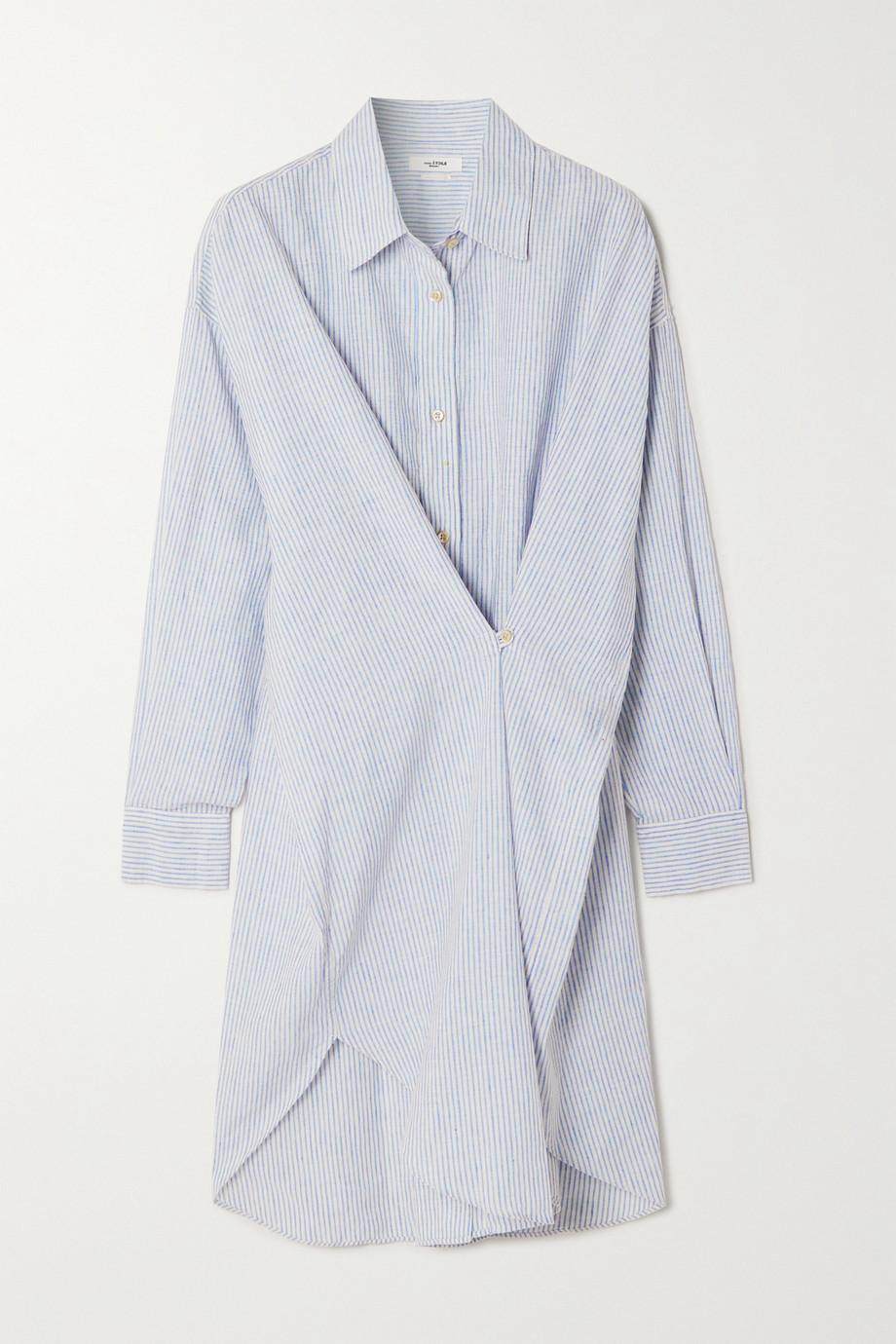 Isabel Marant Étoile Seen gathered striped cotton and linen-blend shirt dress