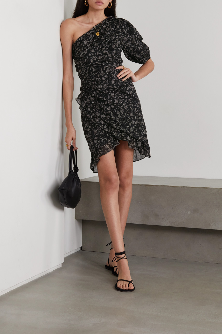 Isabel Marant Étoile Esthera one-shoulder floral-print cotton-voile mini dress