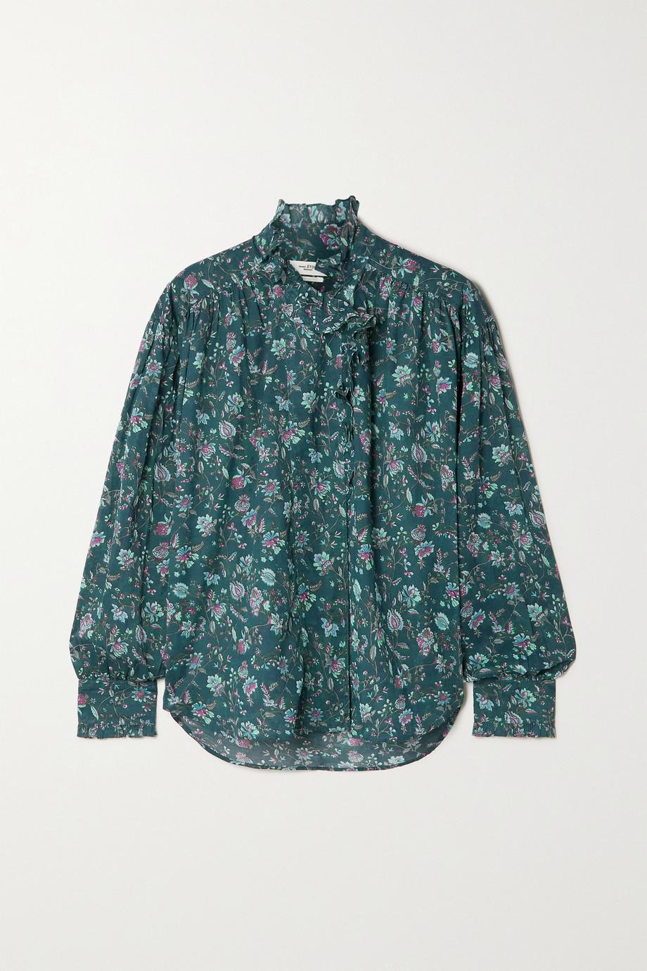 Isabel Marant Étoile Pamias ruffled floral-print cotton-voile blouse