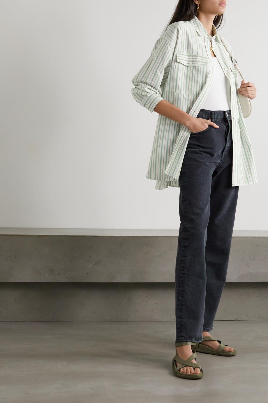 Isabel Marant Étoile Ajady striped organic cotton-blend poplin shirt