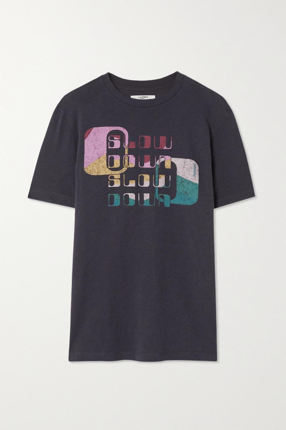 Isabel Marant Étoile Zewel printed slub organic cotton-jersey T-shirt