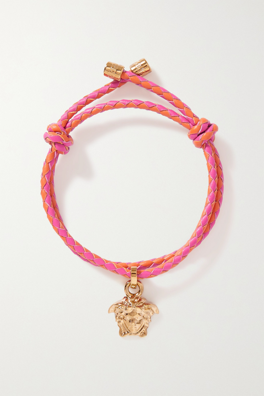 Versace Gold-tone and leather bracelet