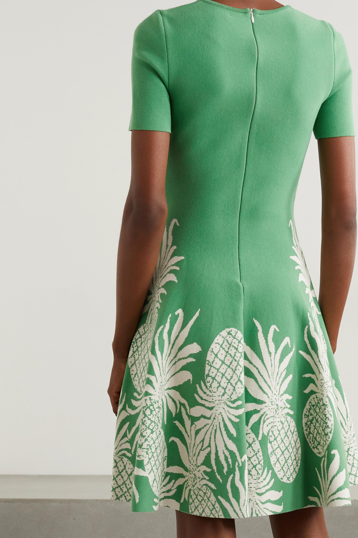 Oscar de la Renta Mini-robe en mailles jacquard
