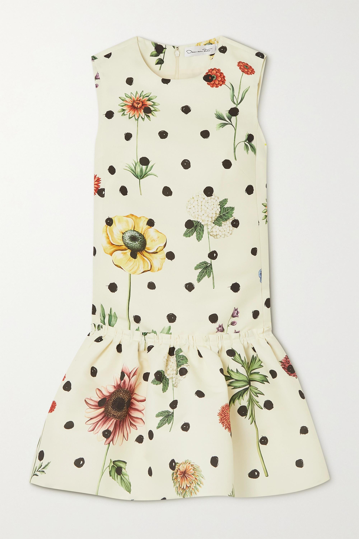 Oscar de la Renta Mini-robe en faille imprimée à volants