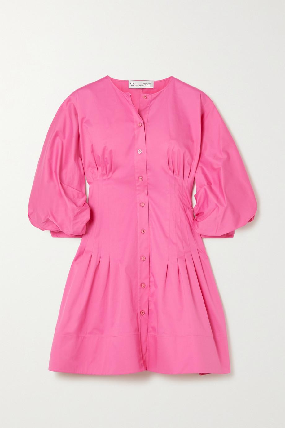 Oscar de la Renta Mini-robe en popeline de coton stretch à pinces
