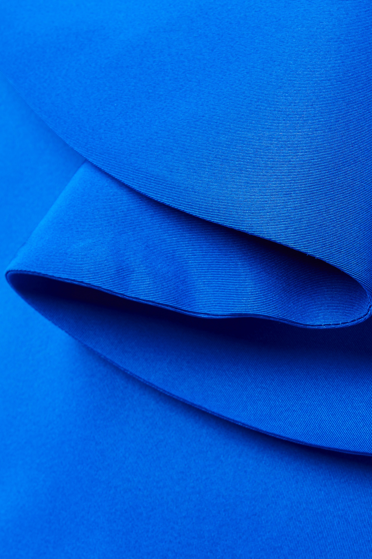 Oscar de la Renta Mini-robe bustier en faille de soie à volants