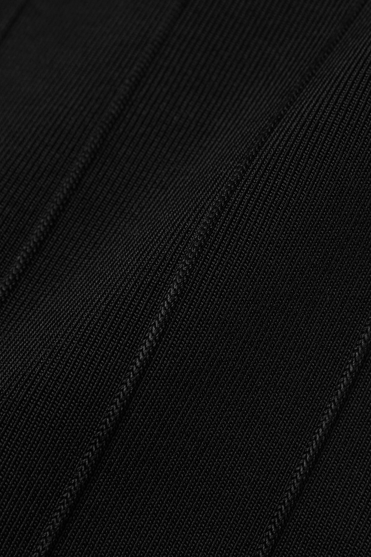 Galvan Atalanta pleated stretch-knit midi dress