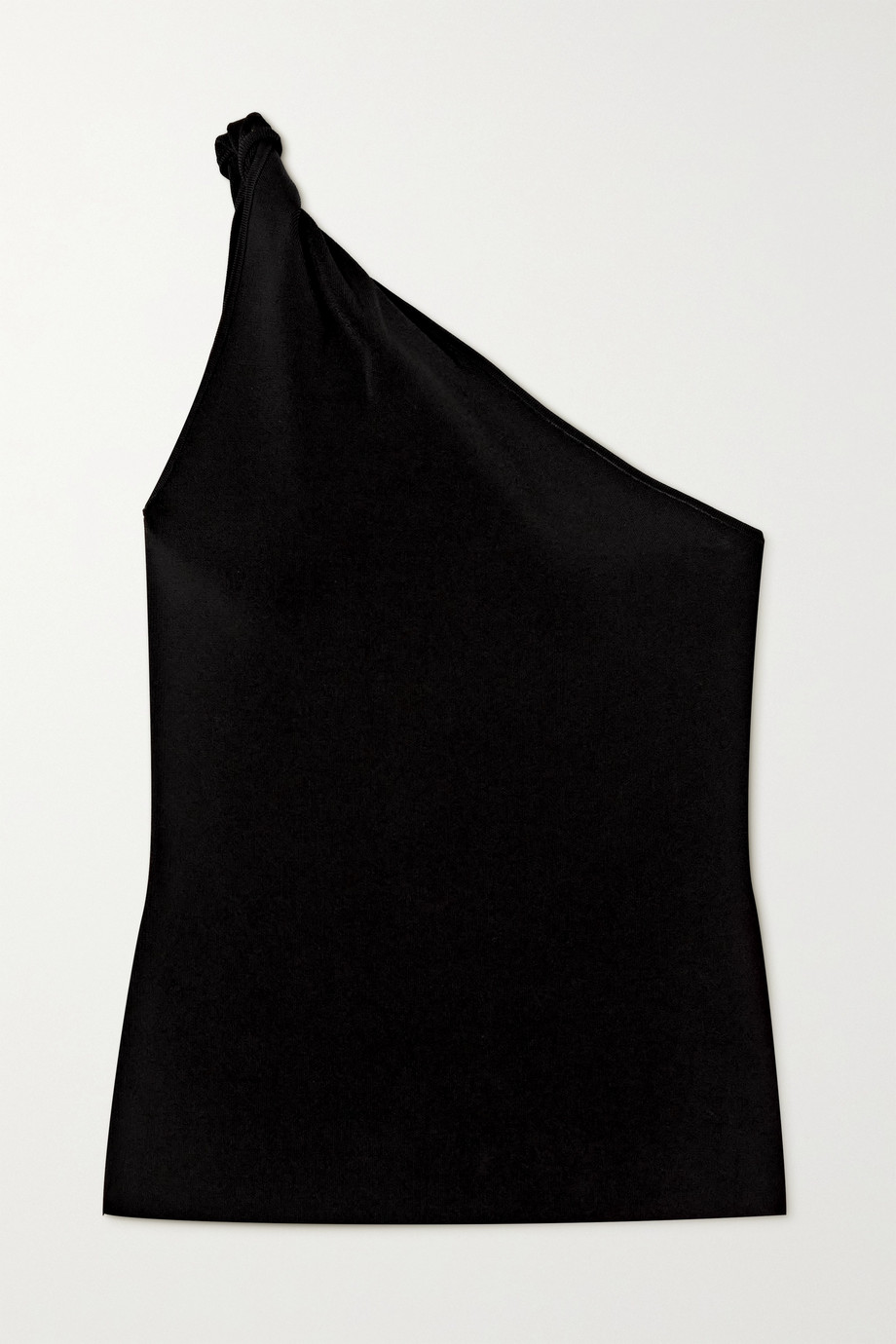Galvan Persephone one-shoulder stretch-knit top