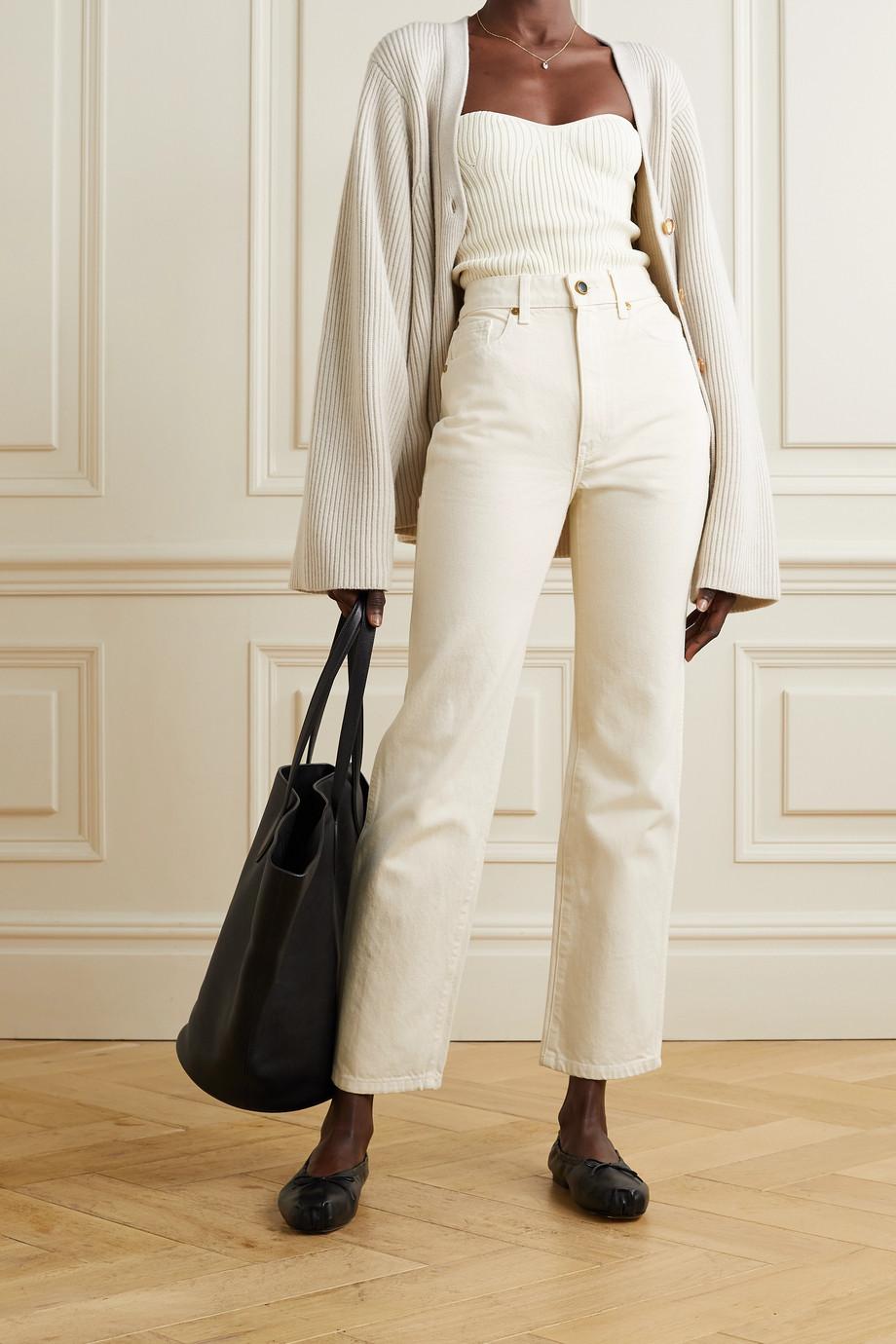 Khaite Abigail high-rise straight-leg jeans