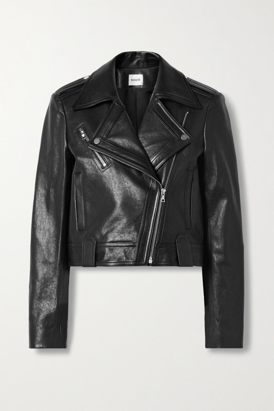 Khaite Antonia leather biker jacket