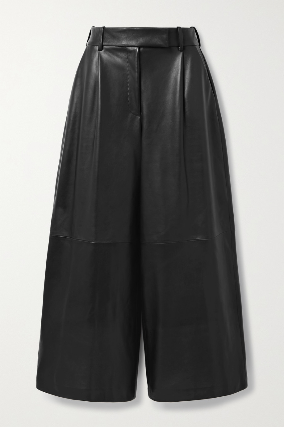 Khaite Pantalon large en cuir Maarte