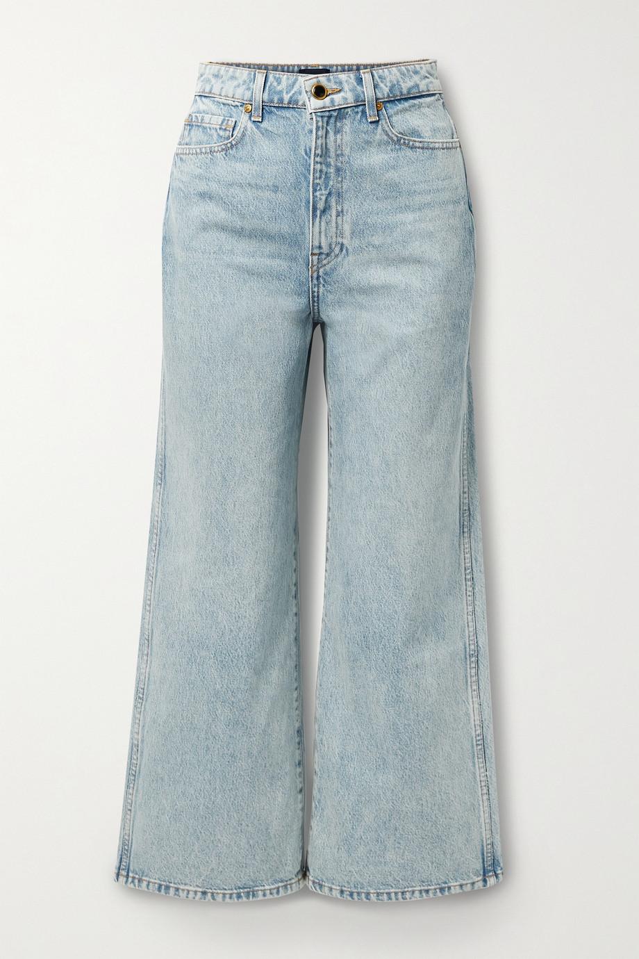 Khaite Ella hoch sitzende, verkürzte Jeans mit weitem Bein
