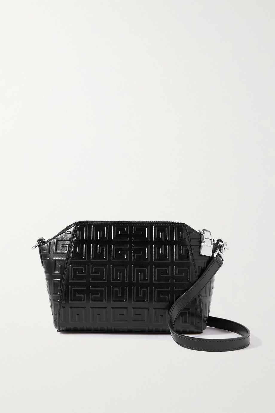 Givenchy Sac porté épaule en cuir glacé gaufré Antigona XS Mini