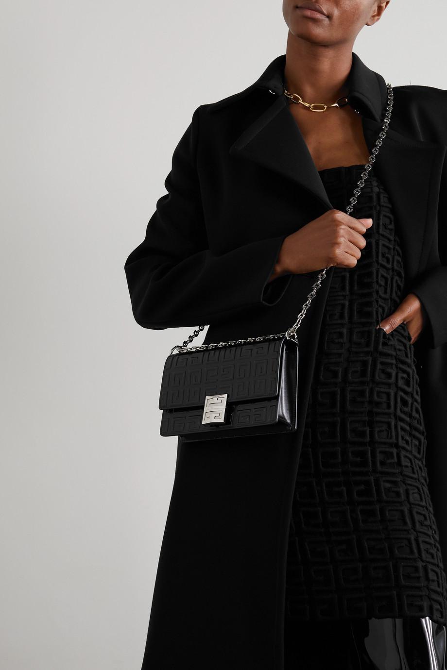 Givenchy Sac porté épaule en cuir glacé gaufré 4G Mini