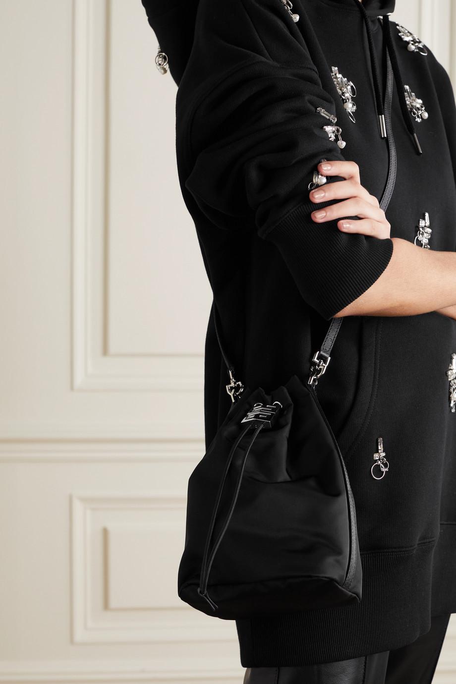 Givenchy Sac seau en tissu technique à finitions en cuir 4G