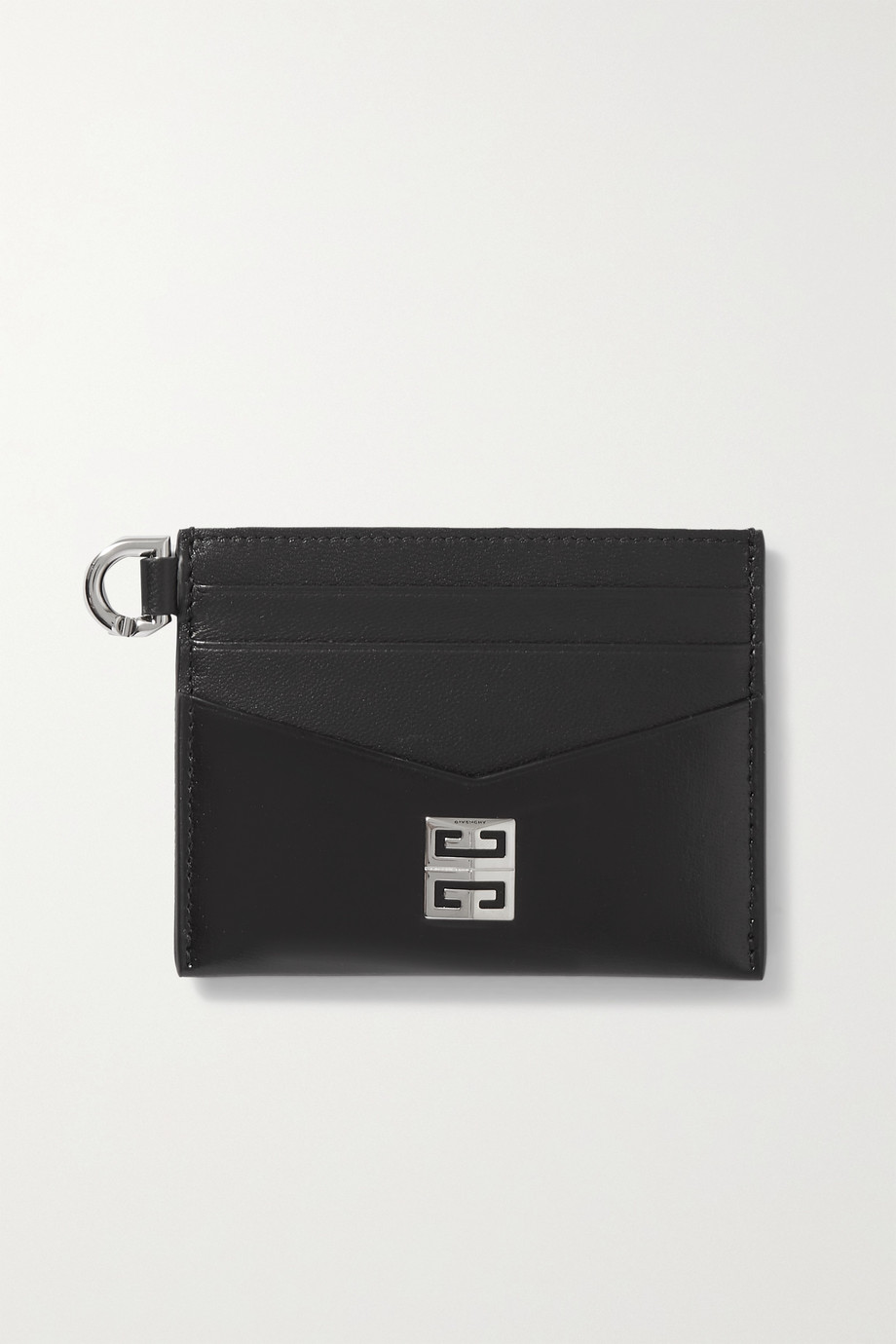 Givenchy Kartenetui aus Glatt- und Glanzleder mit Verzierung