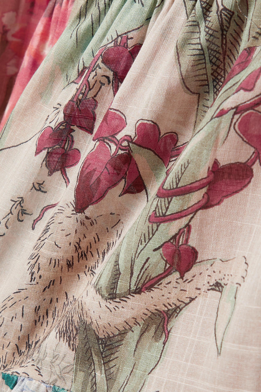 Zimmermann Cassia patchwork floral-print cotton-voile wrap dress