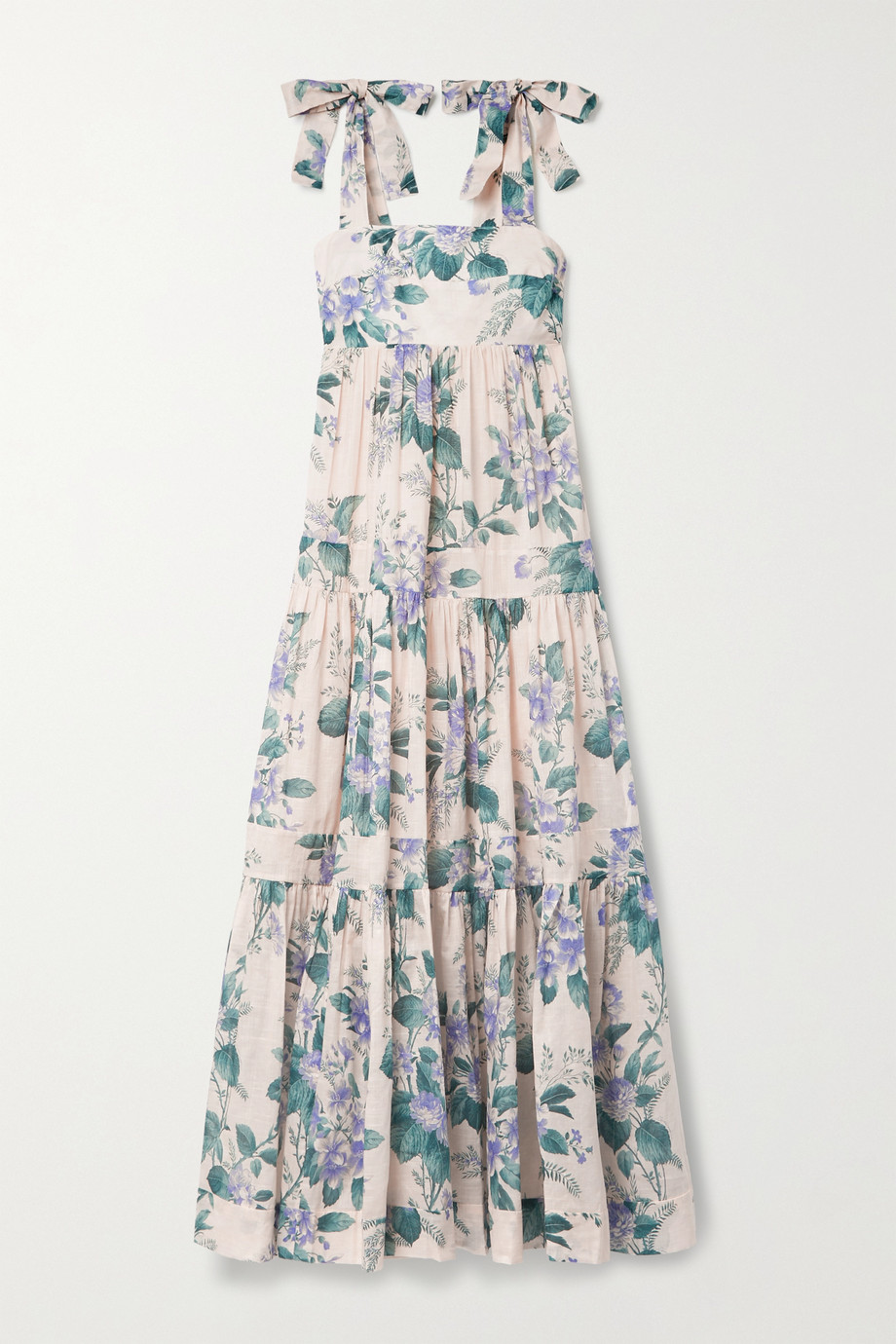 Zimmermann Cassia floral-print cotton-voile midi dress