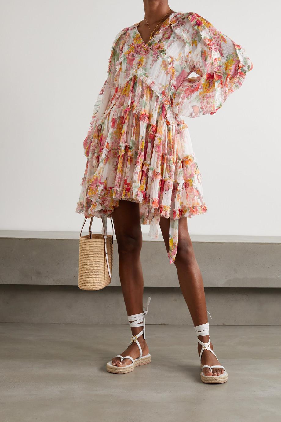 Zimmermann Mae ruffled floral-print silk-crepon mini dress