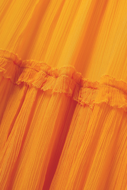 Zimmermann Robe midi en crépon de soie à volants Mae
