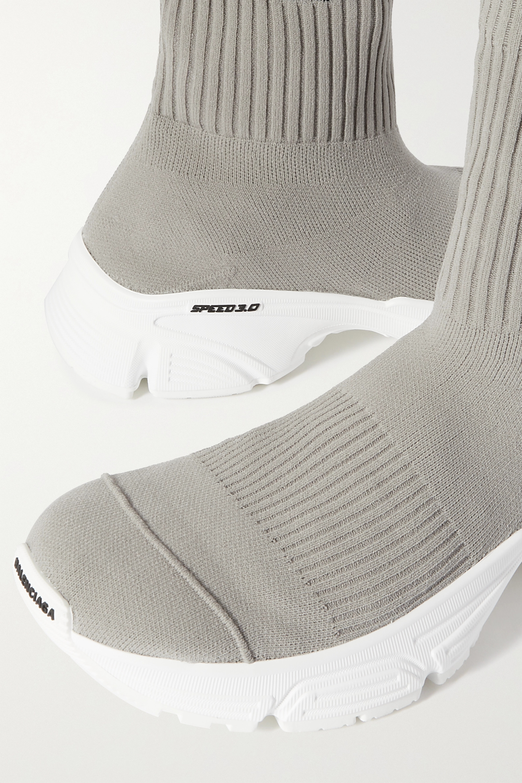 Balenciaga Baskets montantes en mailles stretch à logo Speed 3.0