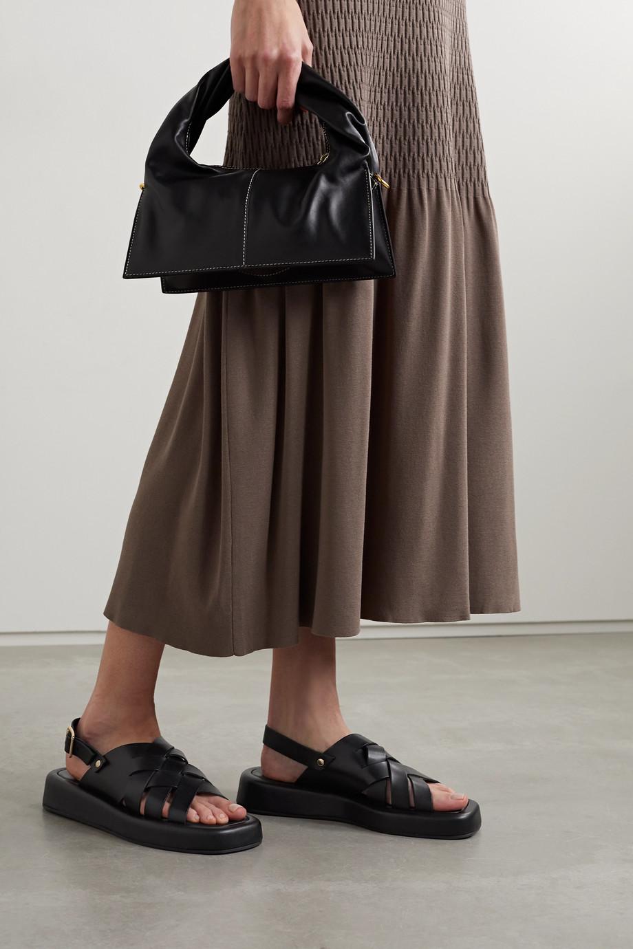 Loeffler Randall Finn Slingback-Sandalen aus geflochtenem Leder