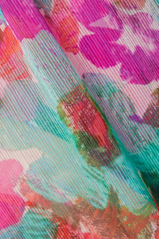 PatBO Gabi Neckholder-Maxikleid aus Krepon und Stretch-Jersey mit Blumenprint und Cut-outs