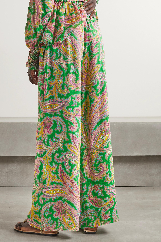 Zimmermann Teddy paisley-print ramie wide-leg pants