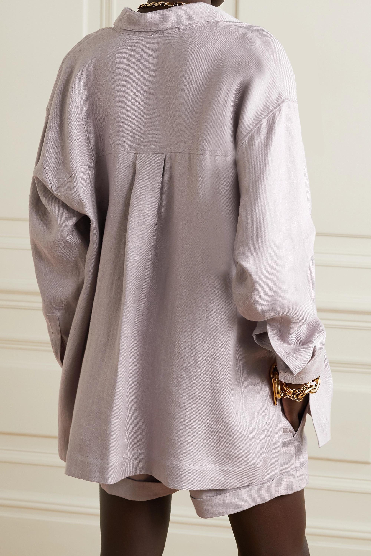 BONDI BORN Bari linen-twill shirt