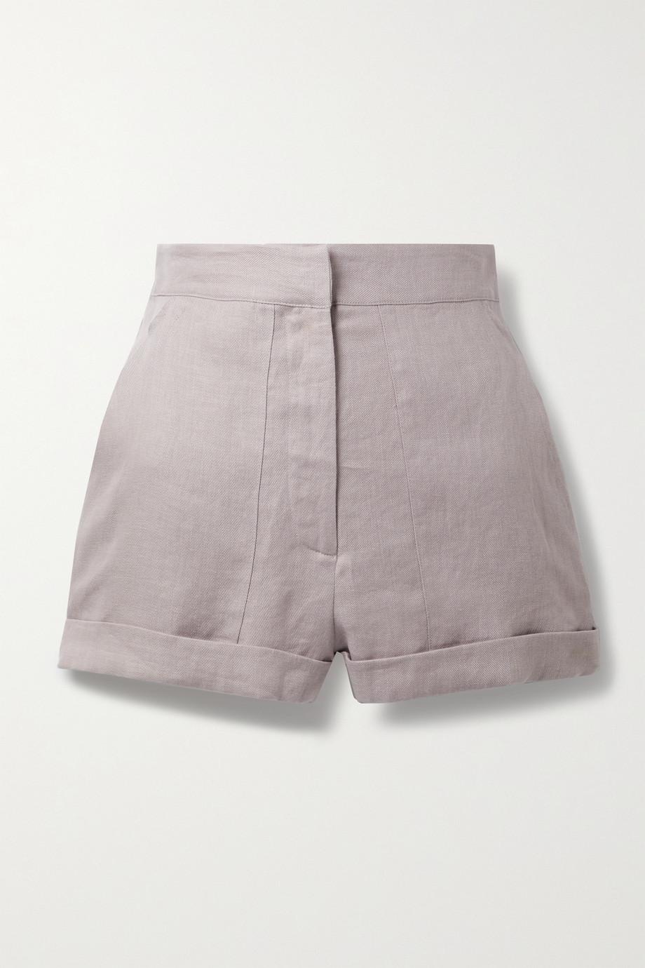 BONDI BORN Brindisi linen-twill shorts