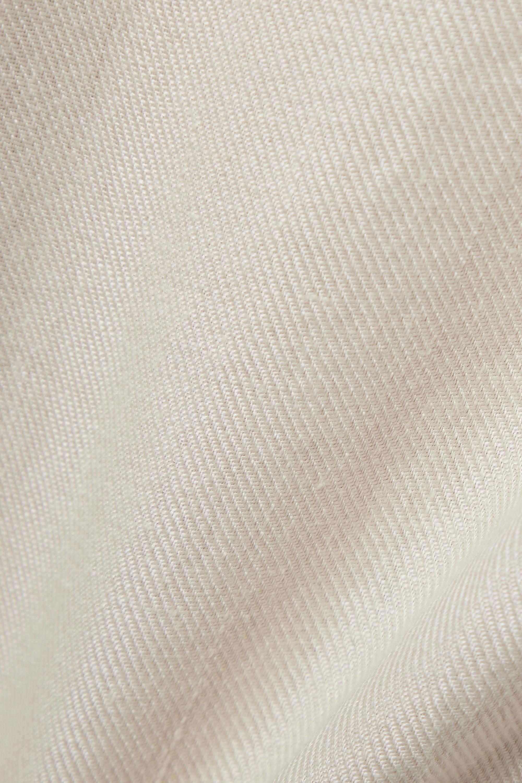 BONDI BORN Mini-robe bustier en serge de lin Elba