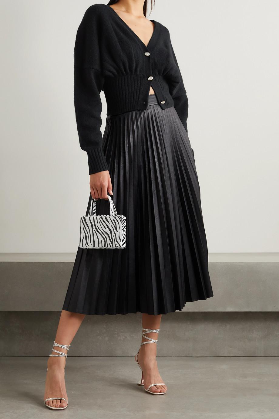Galvan Luna cropped wool-blend cardigan