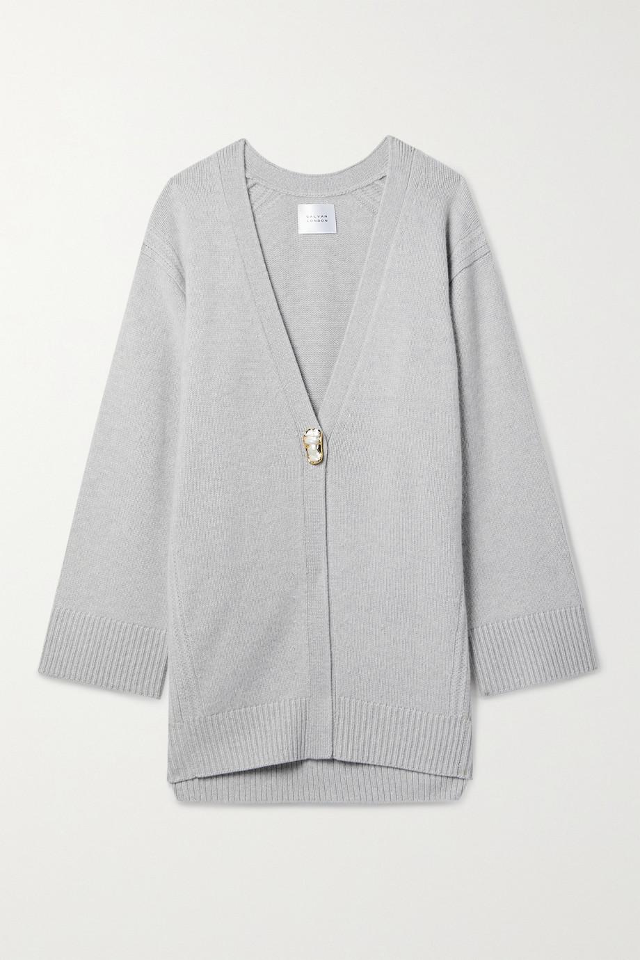 Galvan Merino wool and cashmere-blend cardigan