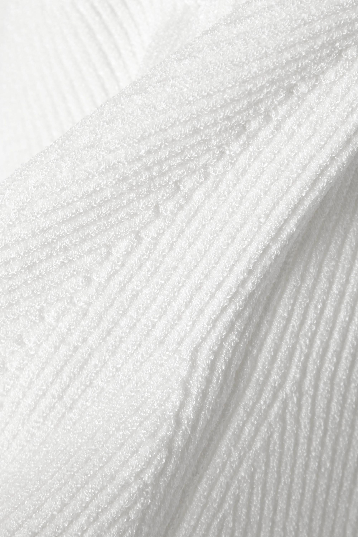 Galvan Thalia ribbed-knit bustier top